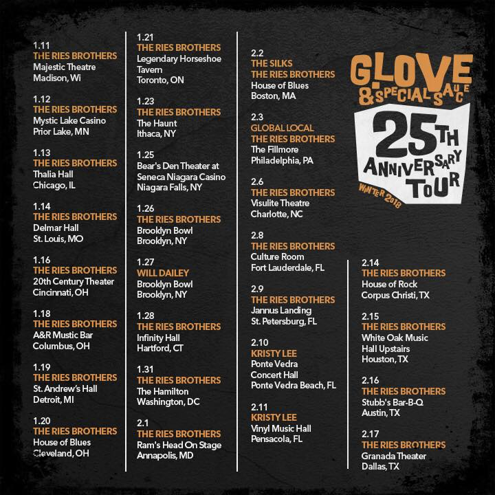 g love 25th anniversary tour